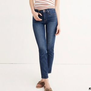 Madewell High Rise Slim Straight Jeans 25T